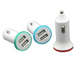 DUAL 5V USB CAR AUTO CHARGER