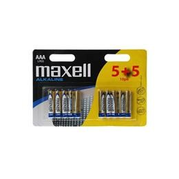 MAXELL BATTERY ALKALINE 5X AAA MICRO TYPE LR03 + 5 FOR FREE
